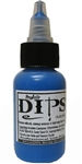 Blue Dips 1 oz bottle of waterproof liquid face paints bu ProAiir