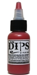 Lipstick Red Dips 1 oz bottle of waterproof liquid face paints bu ProAiir