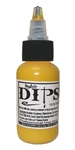 Yellow Dips 1 oz bottle of waterproof liquid face paints bu ProAiir