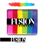 Fusion rainbow cake face paint, face painting