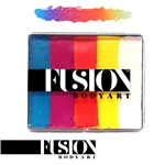 Fusion Summer Sunrise rainbow cake face paint, face painting