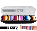 Fusion Spectrum Rainbow Splash Palette  face paint, face painting