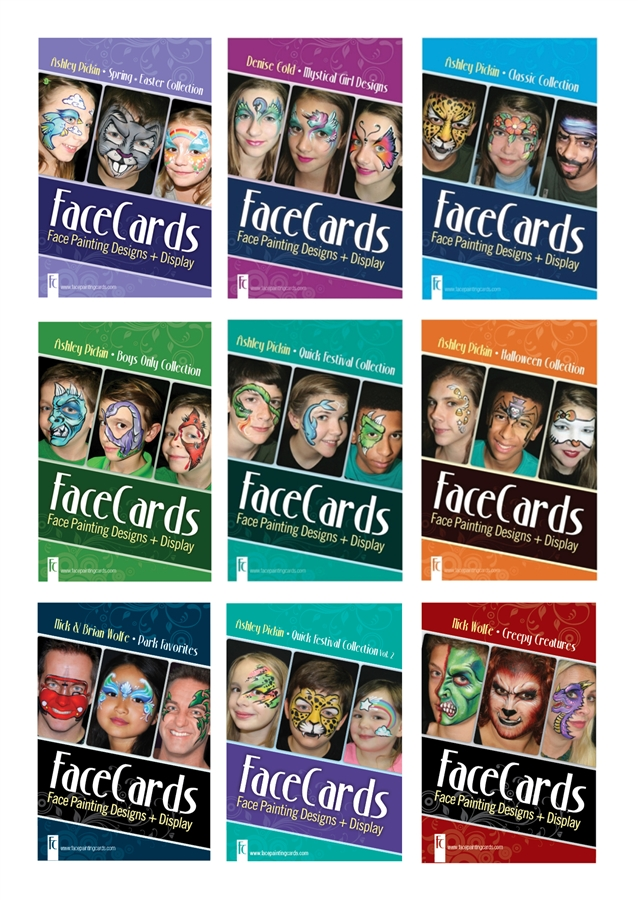 Facecards Face Painting Full Set Step By Step Instruction Guide
