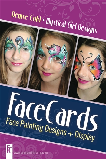 Denise Cold Face Cards. One Stroke Face painting designs