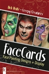 Nick Wolfe Face Painting Cards, face painting designs for Easter / pring season