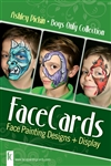 Face Painting Cards, face painting designs for Easter / pring season
