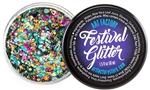 Festival glitter made using cosmetic grade chunky glitters.