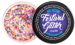 Rave UV reactive festival glitter gel, cosmetic grade chunky glitter gel for face paint and body art
