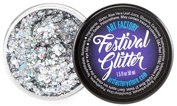 Silver Starstruck Festival glitter for body art and face painting