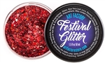 Festival glitter chunky glitter in Cherry Bomb Red color for glitter roots glitter hair glitter cheeks
