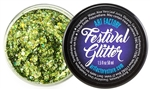 Envy Festival glitter is a green chunky glitter gel for glitter roots glitter hair glitter cheeks