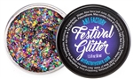 Rainbow Pride Festival Glitter for face paint and body art. Made of chunky rainbow glitter in a gel base