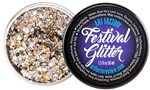 Champagne Festival Glitter is a chunky glitter gel base for face paint and body art