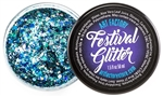 Frost Festival Glitter consist of blue chunky glitters in a gel base