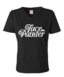 V neck Face Painter T-Shirt