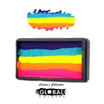 Global fun stroke face paint, One stroke painting