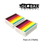 Fun Strokes split cake refills for global palettes come in a set of 2