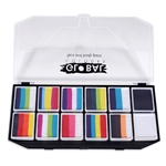 Global BodyArt - Carnival Face Painting Kit rainbow colors face paint palette, small palette