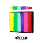 Global rainbow cake face paint, face painting