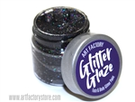Black Glitter Glaze Face & Body Paint in one oz jar