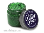 Kelly Green Glitter Glaze Face & Body Paint in one oz jar