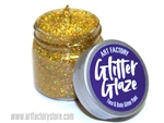 Gold Glitter Glaze Face & Body Paint in one oz jar