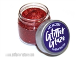 Red Glitter Glaze Face & Body Paint in one oz jar