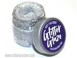 Silver Glitter Glaze Face & Body Paint in one oz jar