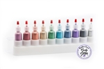 Cosmetic Glitter 10 pack in plastic case, poof bottle, face paint glitter