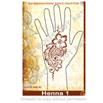 Henna 1 Paisely Flower Strip Stencil