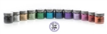 glitter tattoo cosmetic glitter: 12 colors - Black, Silver, Gold, Jade, Dark Green, Aqua, Royal Blue, Purple, Lavender, Fuchsia, Red, and Orange.