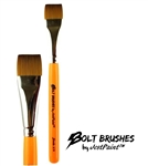 Bolt brush 3/4 inch flat brush for one stroke face painting with thick handle
