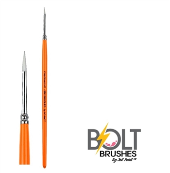 Number 1 Bolt Crisp Line Brushes by Jest Paint are synthetic Taklon and wooden handle.