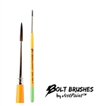 Bolt brush liner number 3 for line work and swirls face painting with thick handle