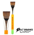 Bolt brush 1 inch flat brush for one stroke face painting with thick handle