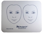 Jest Design It Face Painting Practice Board - 2 Side View Kids