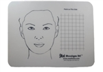 Jest Design It Face Painting Practice Board - Adult and Grid