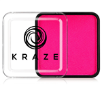 Kraze Neon Pink Wax-based, highly pigmented, water activated makeup for face and body painting.