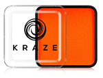 Kraze Neon Orange Wax-based, highly pigmented, water activated makeup for face and body painting.