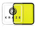 Kraze Neon Yellow Wax-based, highly pigmented, water activated makeup for face and body painting.