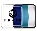 Kraze Oceanic Split Cake Wax-based, highly pigmented, water activated makeup for face and body painting.