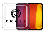 Kraze Sundown Split Cake Wax-based, highly pigmented, water activated makeup for face and body painting.