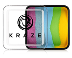 Kraze Twinkle Split Cake Wax-based, highly pigmented, water activated makeup for face and body painting.