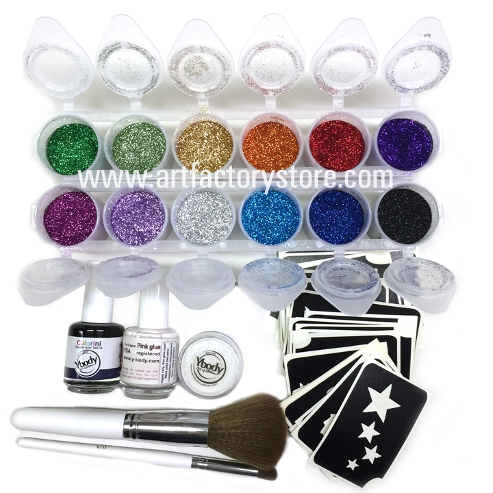 Ybody Pro All in One Kit: 100 Adhesive Stencils