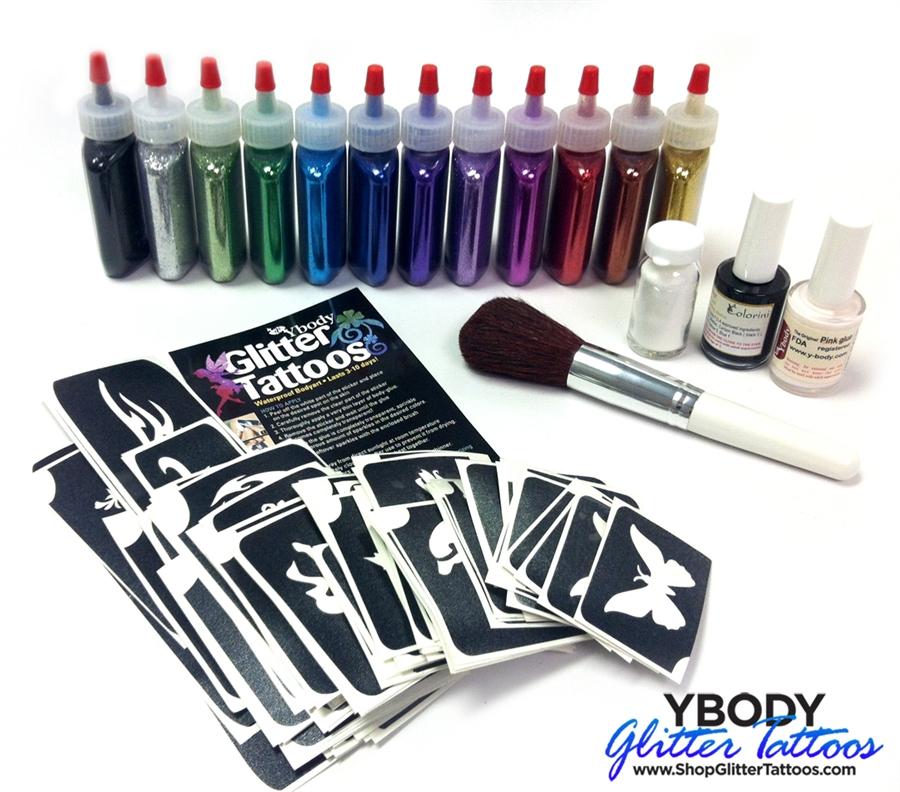 Art Factory Glitter Tattoo pro kit - 100 tattoos
