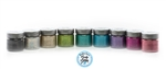 laser holographic glitter colors set: 9 assorted colors featuring Black, Silver, Gold, Light Green, Turquoise, Teal, Lavender, Rose, Coral.