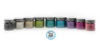 laser holographic glitter colors set: 9 assorted colors for glitter tattoos
