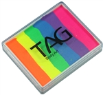 Tag Rainbow neon split cake