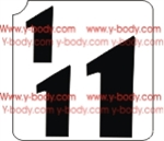 Number 1  Adhesive Stencil for Face & Body Art