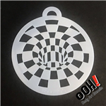 Optical Illusion Blocks ooh!  Flip Face Paint Stencil for face painting and airbrush tattoos